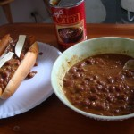 Chili and hot dogs