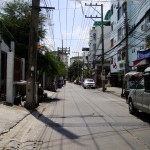 View of Ratchada soi 10 walking towards City Home